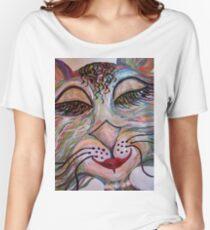 Flirty Funky Feline Women's Relaxed Fit T-Shirt