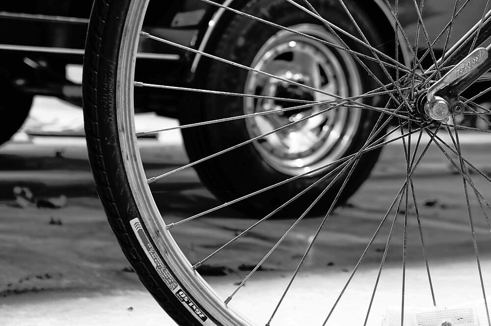 Tire In Wheel by Anthony Cummings