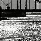 Don River. Rostov bridges. Seawards by Nikolay Semyonov