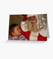 """It's my First Christmas Santa ! "" Greeting Card"
