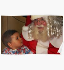 """""""It's my First Christmas Santa ! """" Poster"""