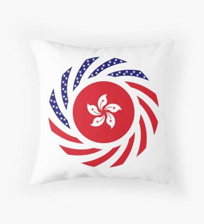 Hong Kong American Multinational Patriot Flag Series Throw Pillow