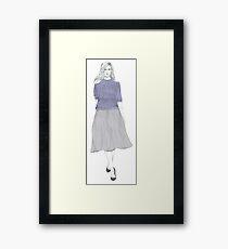 Lilac Knit Framed Print