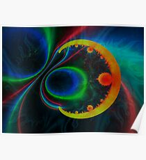 colorful magnetic field Poster