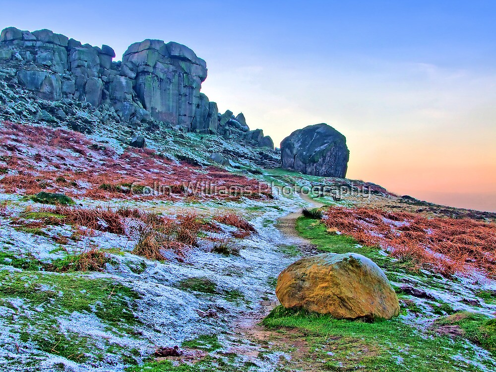 Cow And Calf Rocks Ilkley - HDR by Colin  Williams Photography