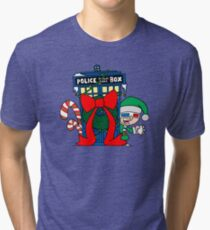 Snowball Fight with the Doctor! Tri-blend T-Shirt