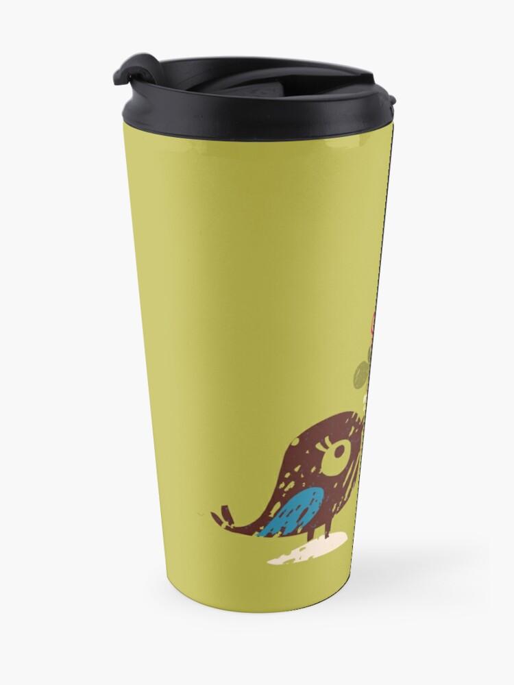 Alternate view of Christmas Love Birds Travel Mug