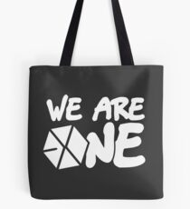 EXO - We Are One! (White Font) Tote Bag