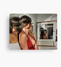 Tonia reflected on the merits of using the flying goggles Canvas Print