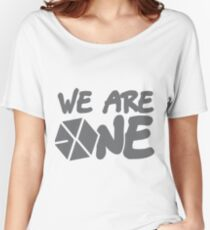 EXO - We Are One! (Black Font) Women's Relaxed Fit T-Shirt