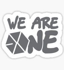 EXO - Wir sind eins! (Schwarze Schrift) Sticker