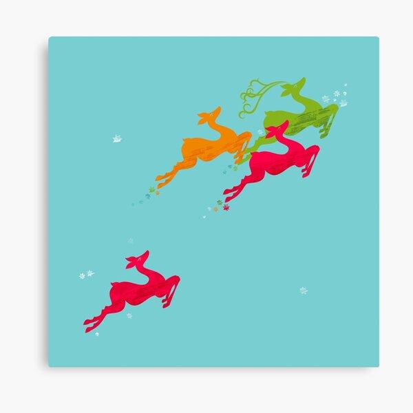 Winer Deer Canvas Print