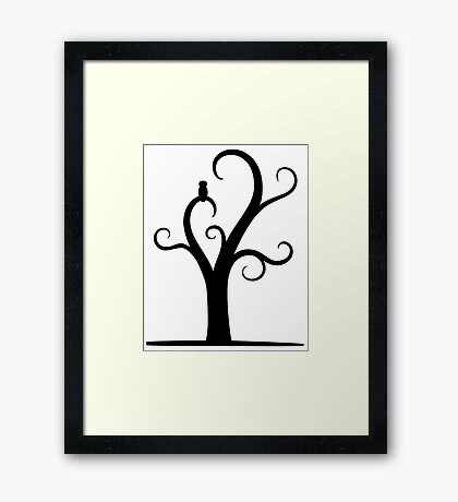 Owl In A Tree  Framed Print