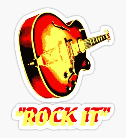 rock t-shirt Sticker