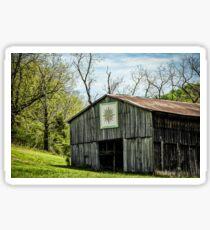 Kentucky Barn Quilt - Mariners Compass Sticker