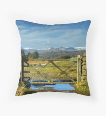 A Langdale View Revisited Throw Pillow
