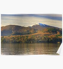 Grisedale Pike Across Derwentwater Poster