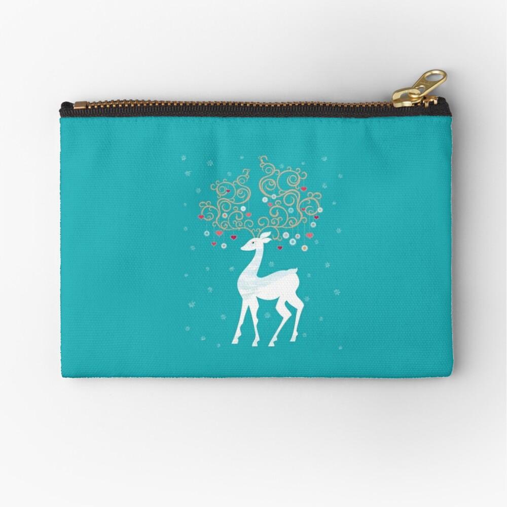 Magic Winter Deer Zipper Pouch