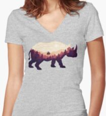 Rhinoscape Women's Fitted V-Neck T-Shirt