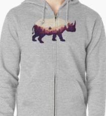 Rhinoscape Zipped Hoodie
