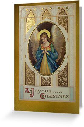 Vintage Christmas Card 10 by EbyArts