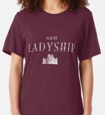 Her Ladyship (white) Slim Fit T-Shirt