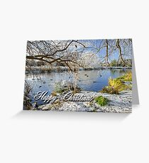 Card - Wintry River at Newton Road Park  Greeting Card