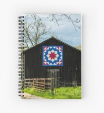Kentucky Barn Quilt - Carpenters Wheel Spiral Notebook