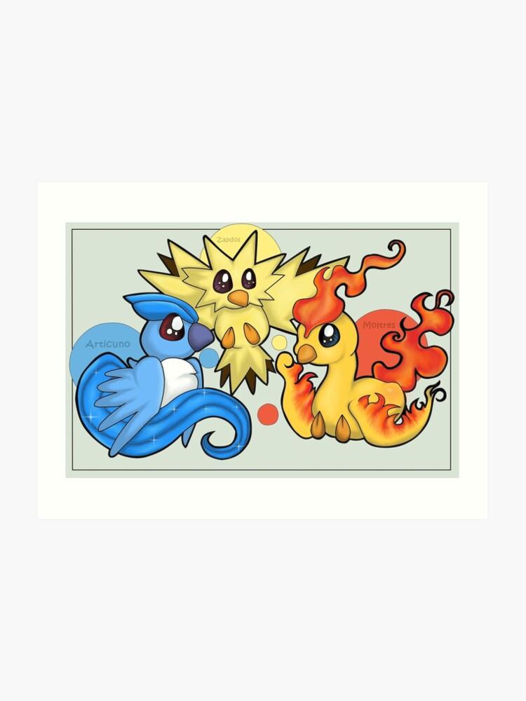 99997f5c6 Pokemon Legendary Bird trio Moltres Zapdos Articuno