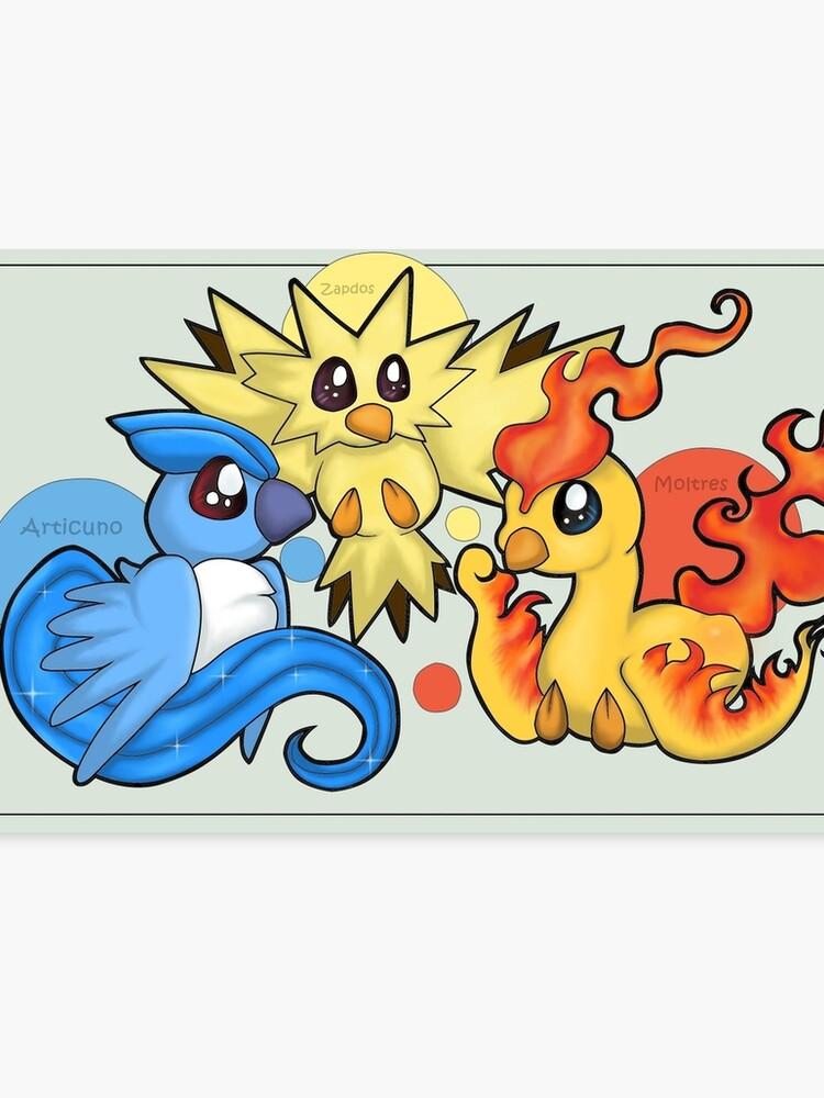 d22b7737 Pokemon Legendary Bird trio Moltres Zapdos Articuno