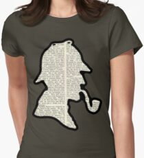 Classic Sherlock Holmes Silhouette - Scandal in Bohemia Women's Fitted T-Shirt