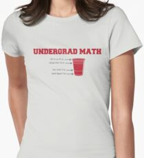 Undergrad Math Womens Fitted T-Shirt