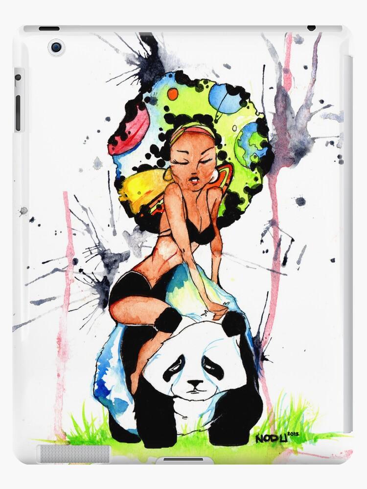 Panda Bear Space Afro Rock by NODU