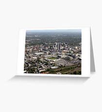 Downtown Fort Wayne, Indiana, From the Air Greeting Card