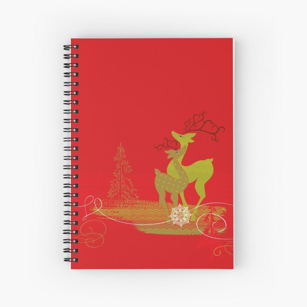 Elegance Couple Deer Spiral Notebook