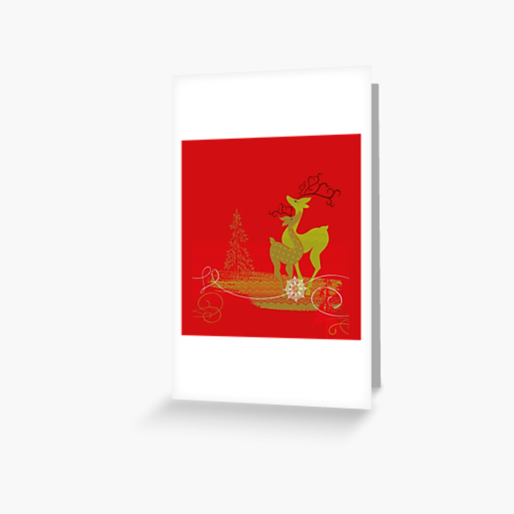 Elegance Couple Deer Greeting Card