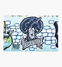 Abstract Graffiti Sheep on the textured wall Photographic Print