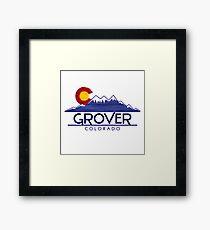 Grover Colorado wood mountains Framed Print