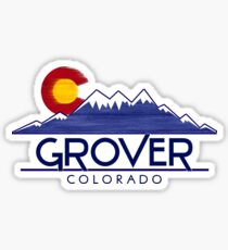 Grover Colorado wood mountains Sticker