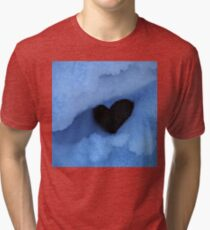 Negative Heart in Snow Tri-blend T-Shirt