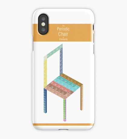 Periodic Chair of Elements iPhone Case/Skin