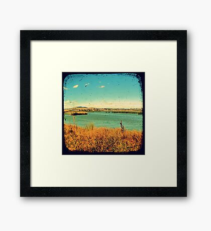 Dangars Lagoon Through The Viewfinder (TTV) Framed Print