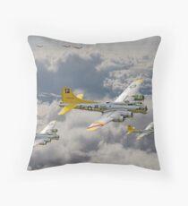B17 - 487th Bomb Group Throw Pillow