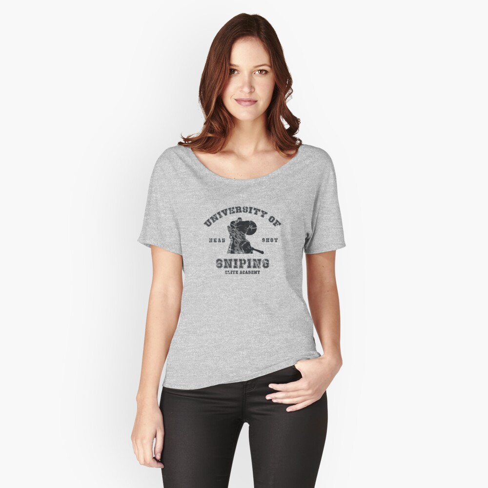 College of sniping Women's Relaxed Fit T-Shirt Front