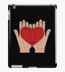 Heart In Your Hands (Nathan Sykes, Over And Over Again) iPad Case/Skin