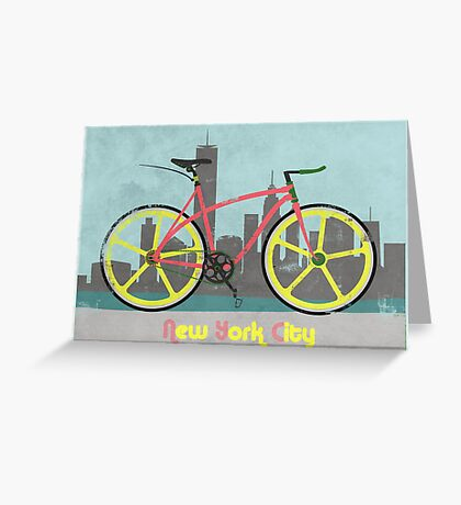 Love New York, Love to Cycle Greeting Card