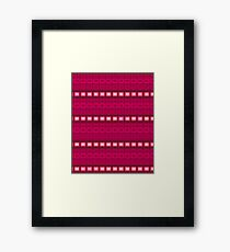 Magenta red stripes - pattern Framed Print