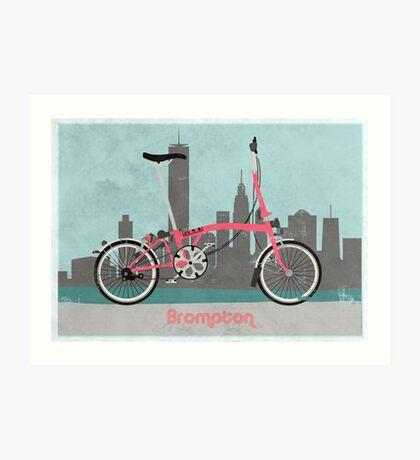 Brompton City Bike Art Print