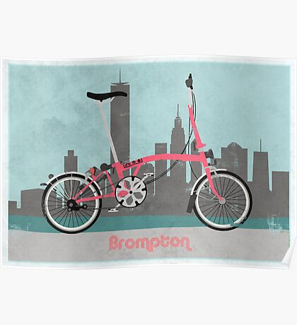 Brompton City Bike Poster