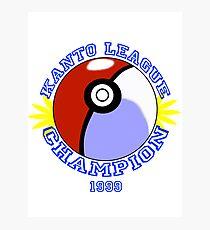 Kanto League Champion Photographic Print